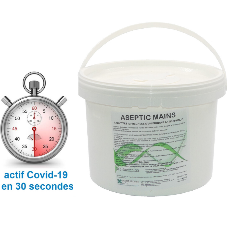 ASEPTIC MAINS 150 LINGETTES